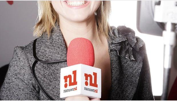 Nieuws redacteur microfoon
