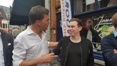 Dj Hardwell met premier Mark Rutte, eerder dit jaar