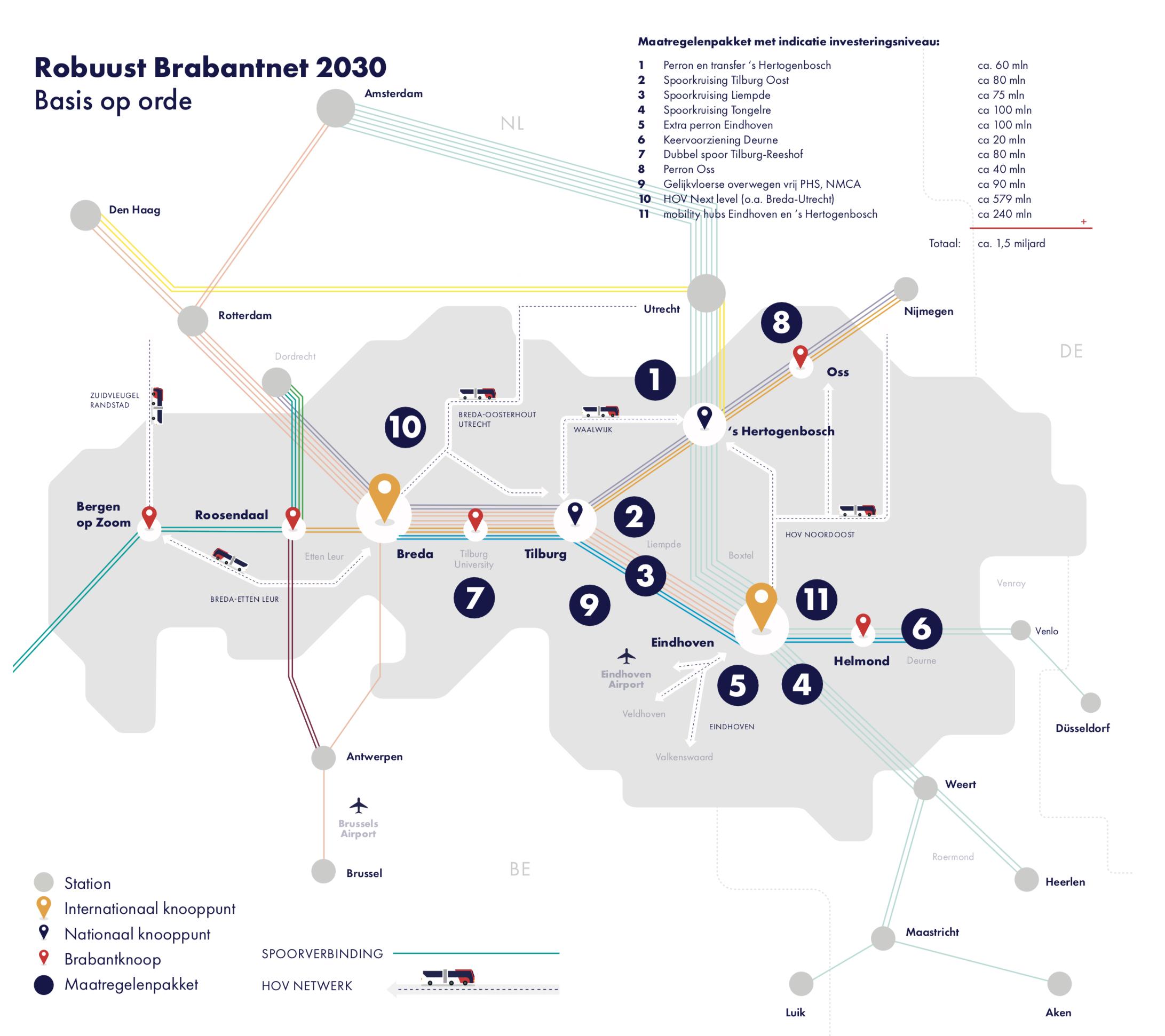 15 Miljard Nodig Voor Ov In Brabant