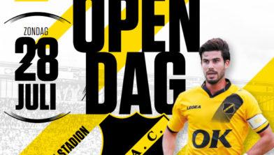 (L-R) Hannes Delcroix of RKC Waalwijk, Sydney van Hooijdonk of NAC Breda