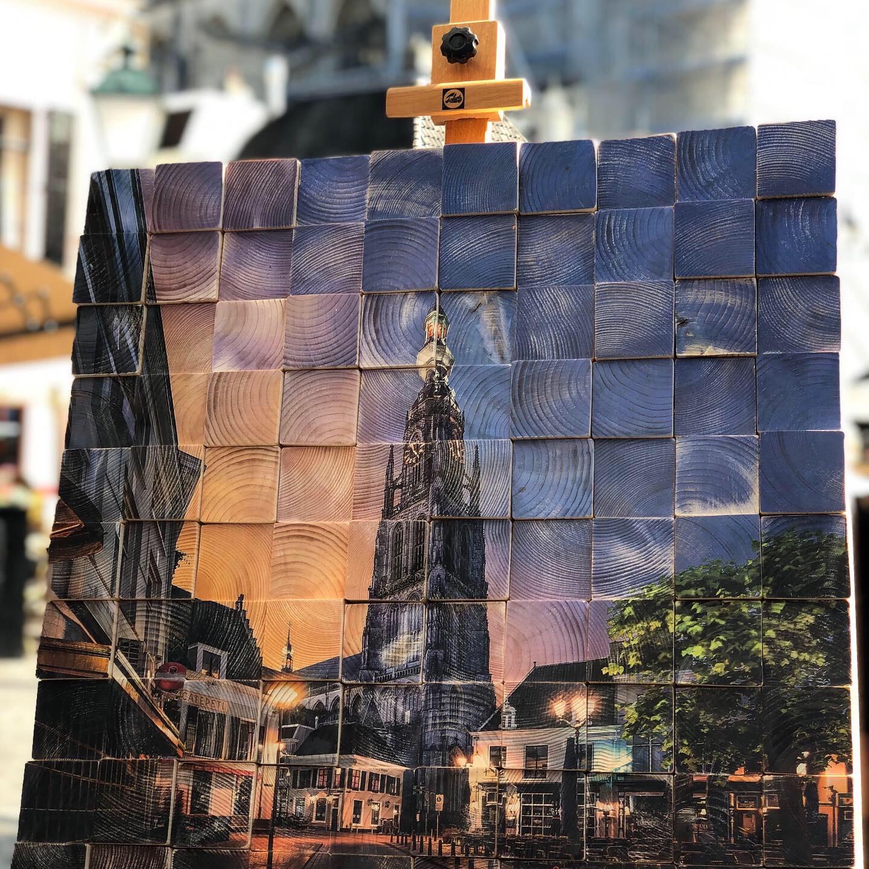 Grote Kerk Breda op hout