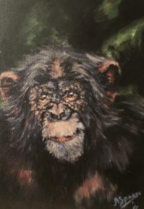 Schilderij aap