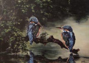 Schilderij IJsvogels