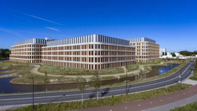 BREDA Amphia Molengracht overzicht van het ziekenhuis met een drone