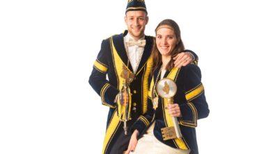 Prins Tijn I met zijn vrouw en prinses Astrid