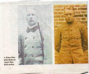 Links: Prins Hendrik, rechts: Hendrik Hoekstra