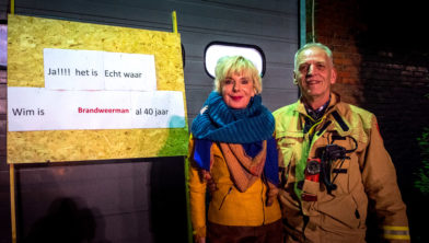 Wim Barsema, met z'n vrouw Willy