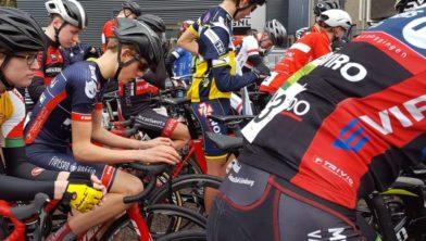 Jaap Voogel, 30 seconden voor de start.