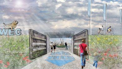 Artistieke indruk van de deuren als WEC-poort.