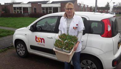 TSN Thuiszorg blij met de tulpen