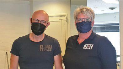 Lars Kram en Caroline Nieuwenhuizen
