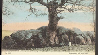 Hunebed bij Rolde rond 1900.