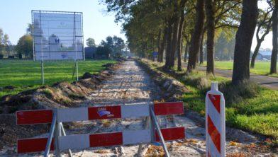 Aanleg fietspad Leeuwte Munnekenweg.