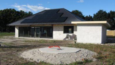 Woning van Bulder net na de bouw.