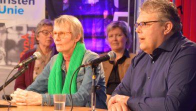 Jan ten Kate (rechts) tijdens verkiezingsdebat.