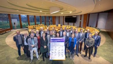Assen: Ondertekening intentieverklaring regionale energiestrategie Drentse overheden op het provinciehuis in Assen. Provincie Drenthe. COPYRIGHT MARCEL JURIAN DE JONG