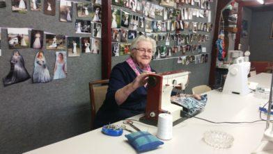 Roelie Strijker in haar atelier.