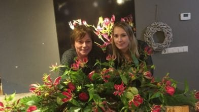 Allien en Sharon van het Bloemenatelier Mo en Do