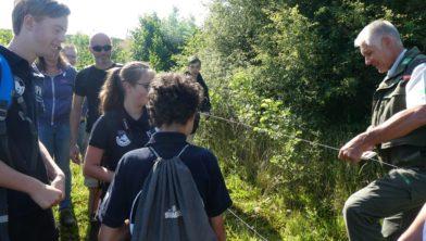 Junior Rangers met boswachter Hans Kruk