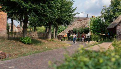 Fietsen in Drenthe.
