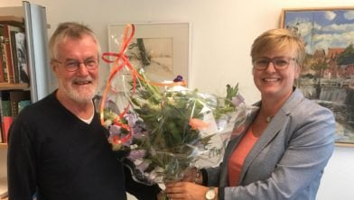 Renate en jan en bloemen.
