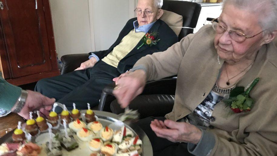 Echtpaar Noordhuis 82 jaar getrouwd.
