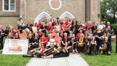 Het Drents Vakantie Orkest 2017 speelde o.a. in Ruinen.