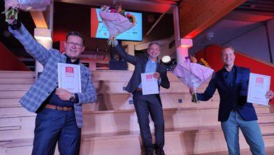 De finalisten, links Jan Bork uit Ruinen.