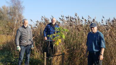 Van links naar rechts Roel Broekman, Jelle Wagenaar, Jan Willem Bennink.