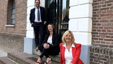 Adviesgroep Mulderij:  hypotheekadviseurs Henry Jansen, Natasja Bos en Jacqueline Lefers.