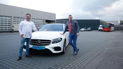 Links: Eric de laat (CEO Yeshugo Delivery) Rechts: Arjen van der Wou (Directeur VANDERWOU Groep)]
