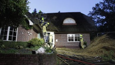 Op de Bovenweg in Otterlo heeft woensdagmiddag rond 16.50 uur een brand gewoed.