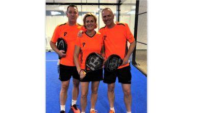 EK-internationals Fred van Ruissen, Ina van Lavieren en Jack Engelaar