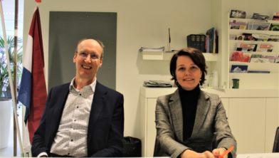 Wethouders Lex Hoefsloot en Hester Veltman