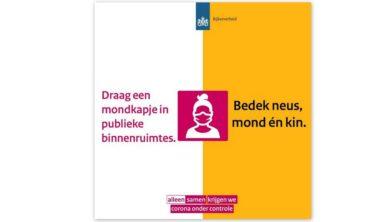 Vanaf vandaag 1 oktober dringend advies 'draag mondkapje in publieke  binnenruimtes' - Ede